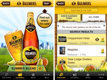 Bulmers iPhone and Android app